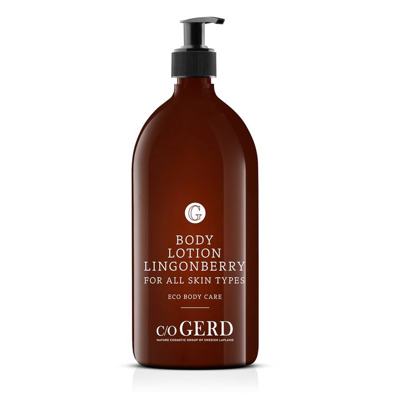 Body Lotion Lingonberry 1 000 ML i gruppen Kroppsvård / Body Lotion & Body Oil hos  Nature Cosmetic Group Of Swedish Lapland AB (302-1000)