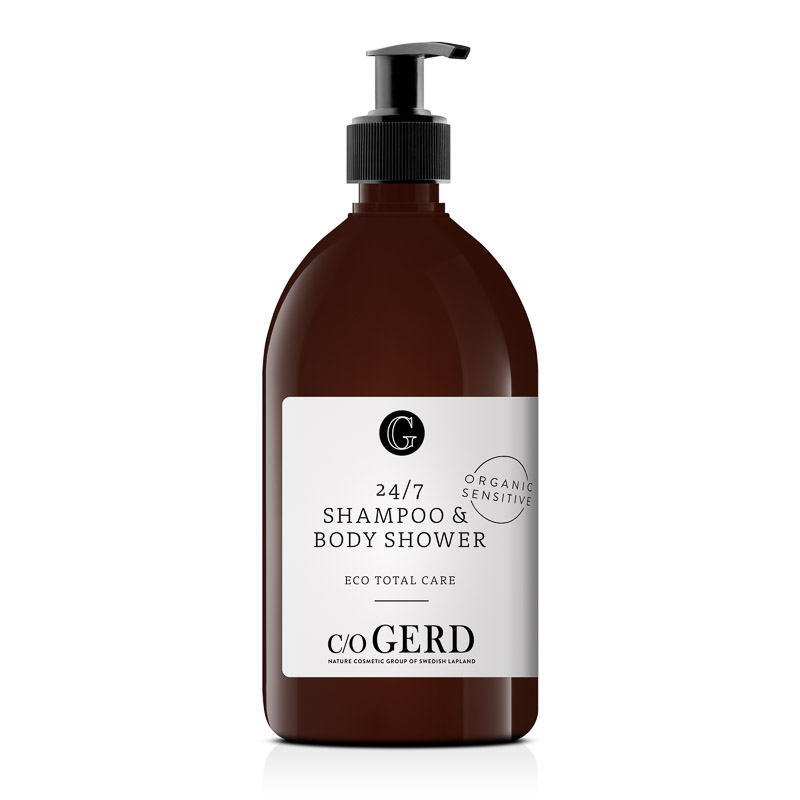 24/7 Shampoo & Body Shower 500ml i gruppen Kroppsvård / Body Shower hos  Nature Cosmetic Group Of Swedish Lapland AB (315-0500)